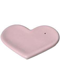 Porte Savon cœur en céramique - Rose