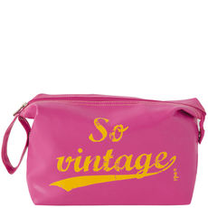 Trousse de toilette Vinyle – So vintage – Rose fuschia
