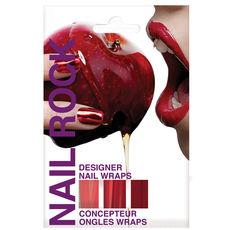 Nail patchs Metallic Red